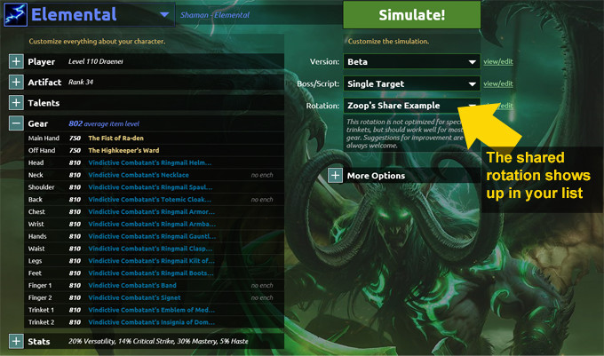 Use a shared Legion APL / Rotation