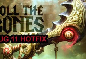 Roll the Bones Hotfix