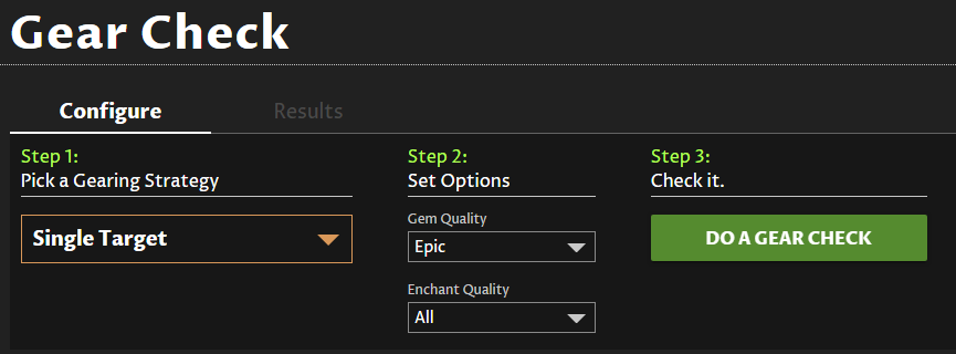 Gear check - optimize gear for BfA