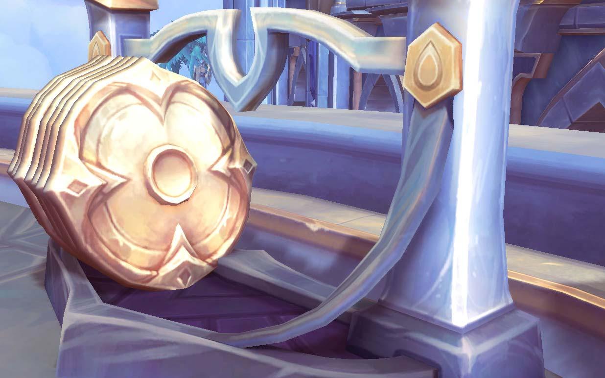Gold shields in Warcraft