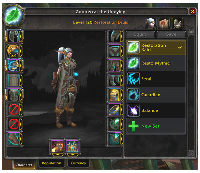 Addon in-game equipment manager best gear sets
