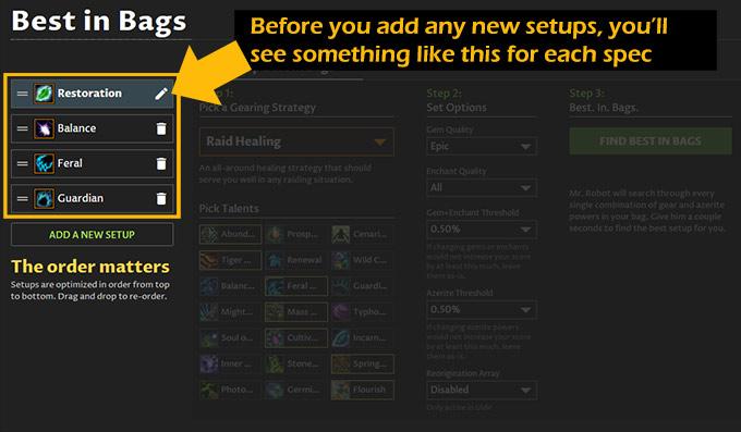 Raid Mythic+ optimize multiple specs