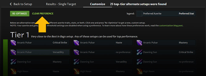 Top tier gear selections - clear preference