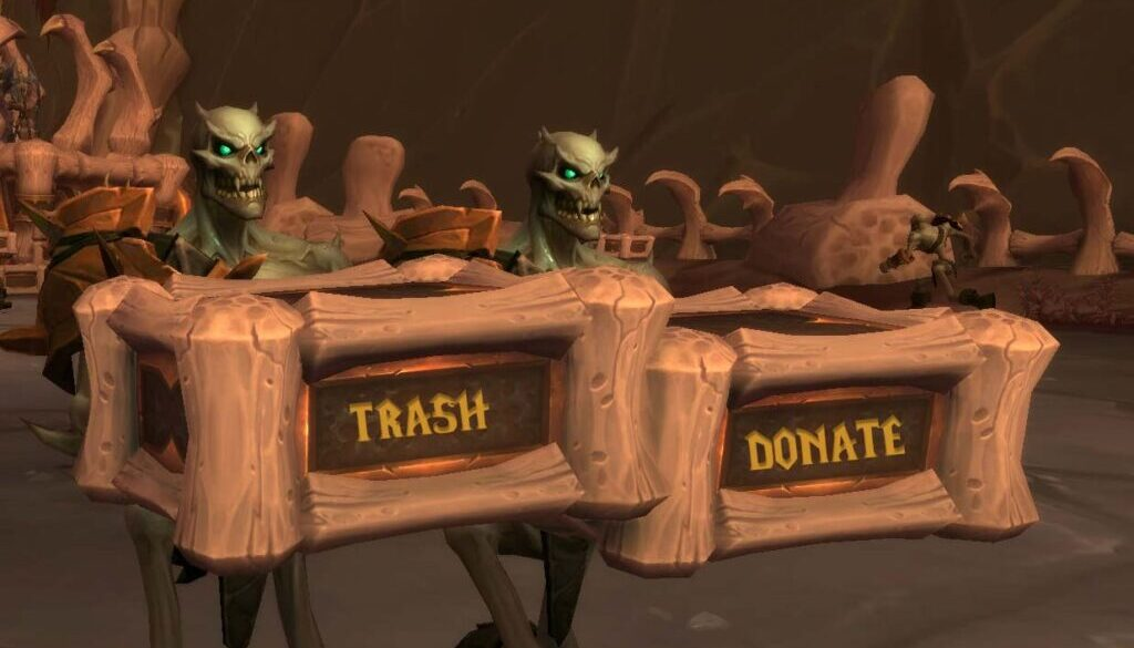 Undead carrying wooden boxes in Warcraft