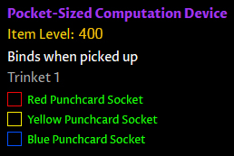 Punchcard trinket - compuation device in patch 8.2
