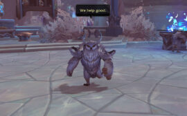 An owl in World of Warcraft Shadowlands