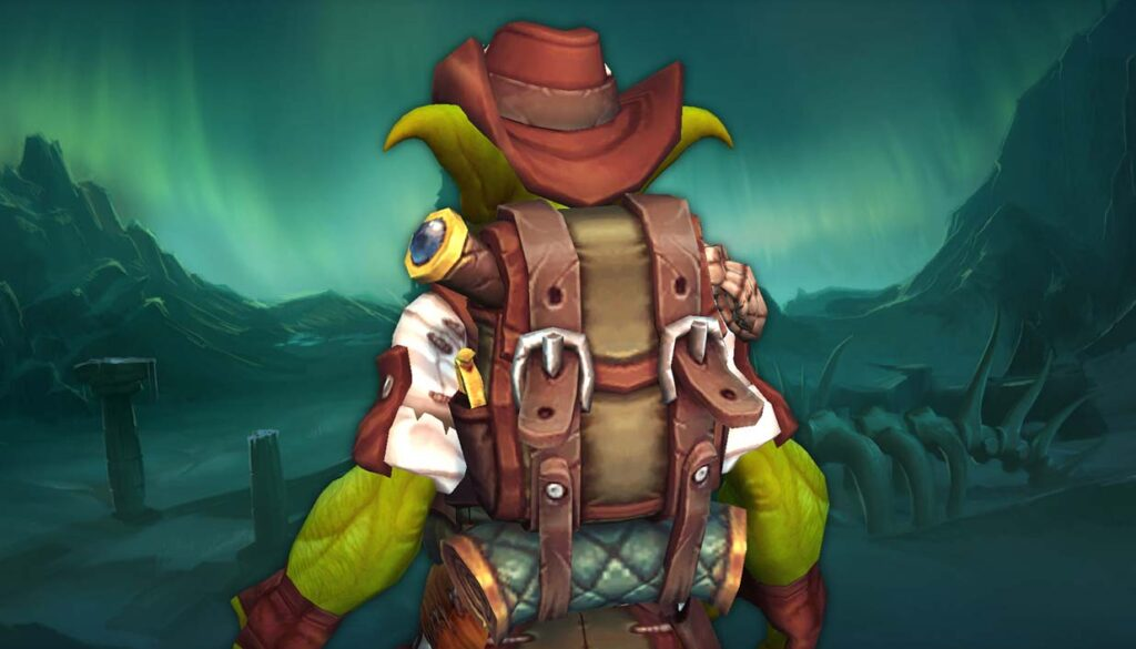 Goblin with backpack