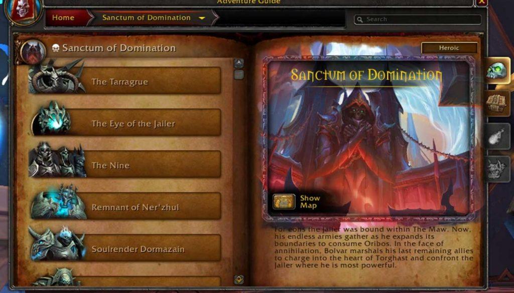 sanctum of domination loot list
